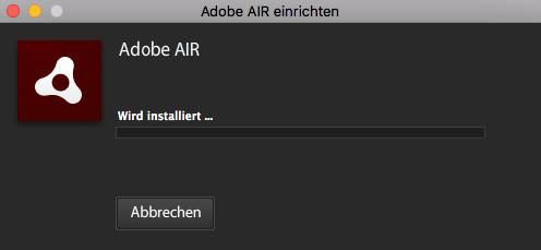 Screenshot 1 - Adobe AIR (Mac)