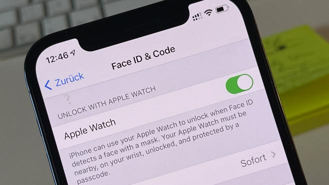 iOS 14.5 Entsperren per Apple Watch©COMPUTER BILD