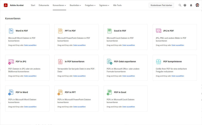 Screenshot 1 - Adobe Acrobat Web