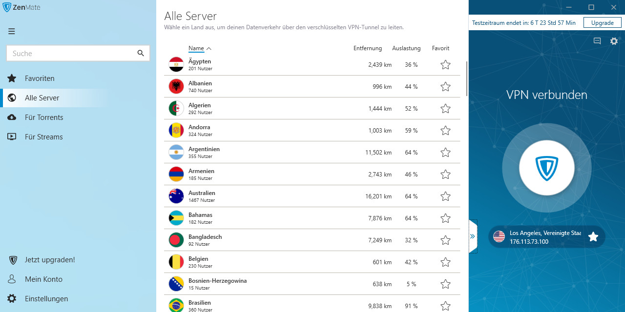 Screenshot 1 - ZenMate