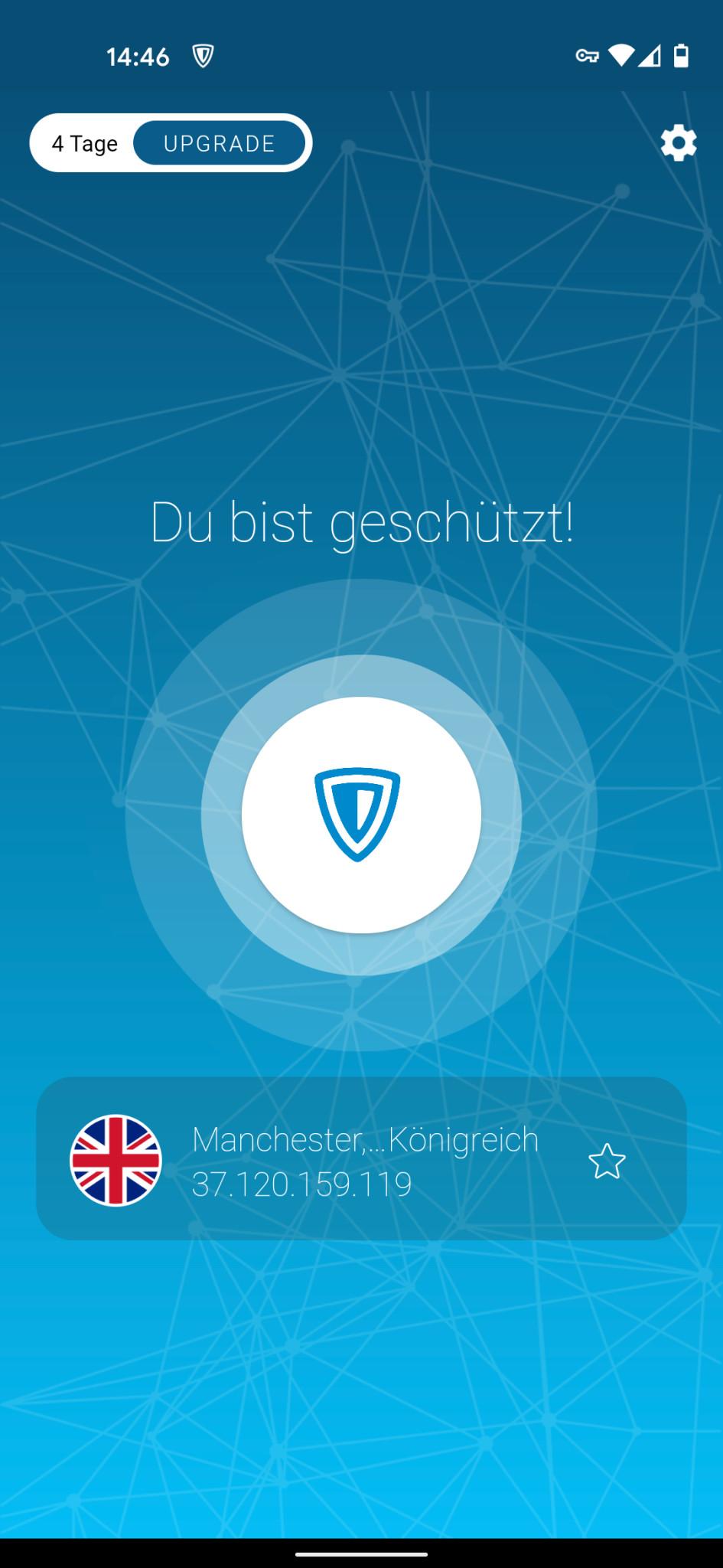 Screenshot 1 - ZenMate (Android-App)