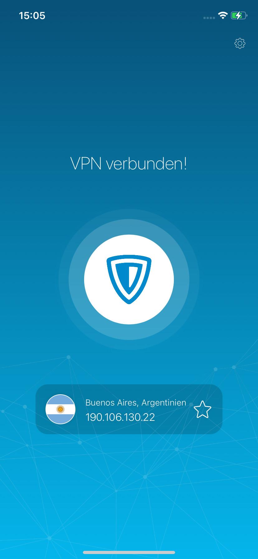 Screenshot 1 - ZenMate (App für iPhone & iPad)