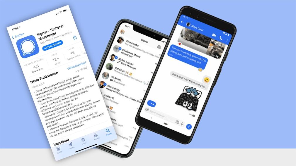 Signal: Update bringt neue Funktionen aufs iPhone©Signal, COMPUTER BILD