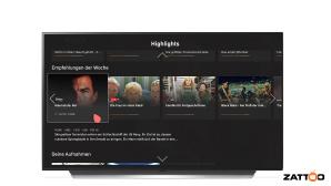 Zattoo bietet fast 50 TV-Sender in HD, die Auswahl an LG-Fernsehern soll mit dem Mauszeiger der Magic-Remote besonders schnell klappen.©Zattoo