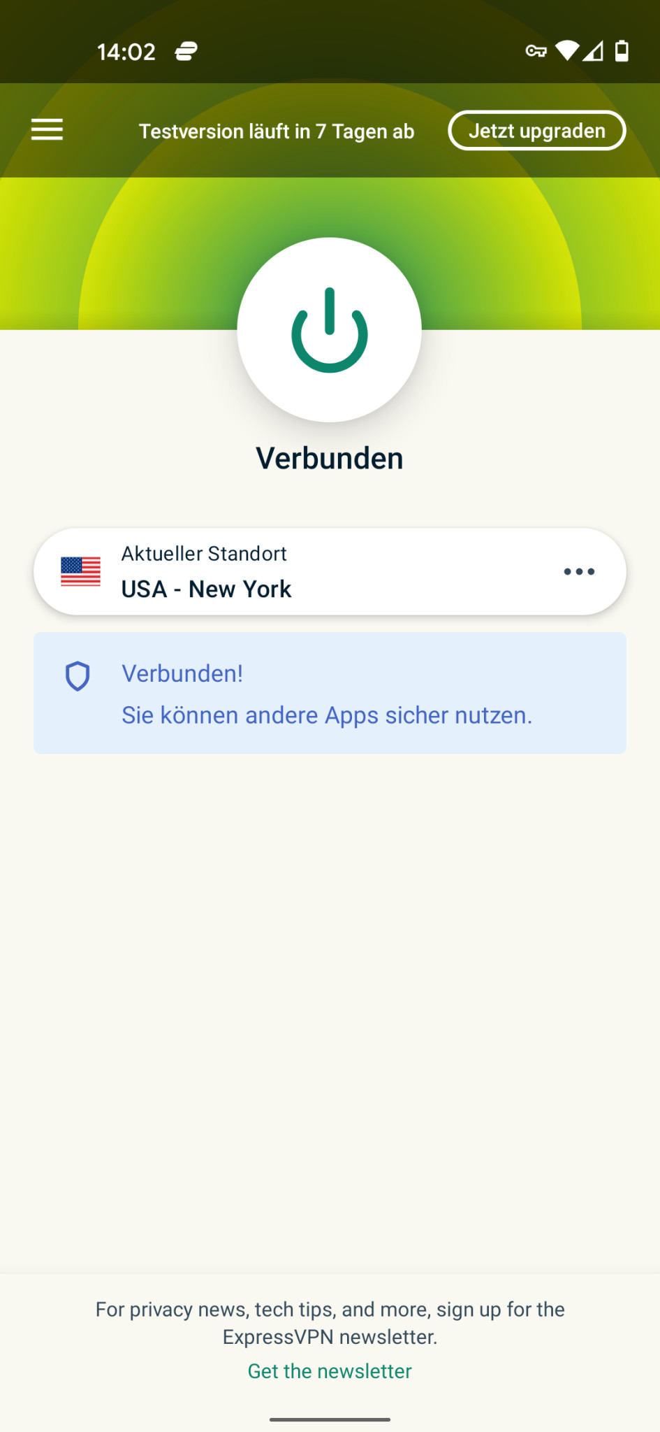 Screenshot 1 - ExpressVPN (Android-App)
