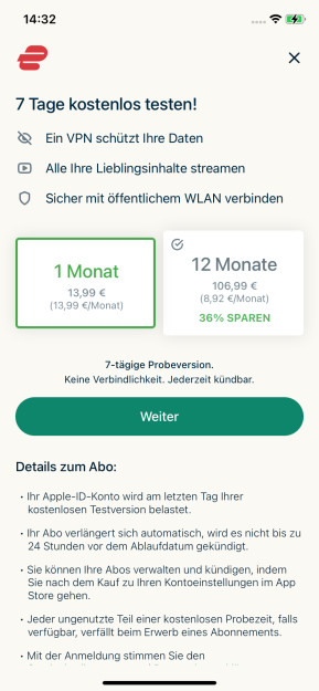 ExpressVPN (App für iPhone & iPad)