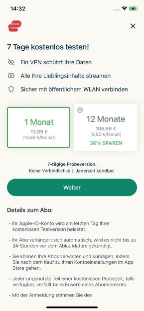 ExpressVPN (App für iPhone & iPad)