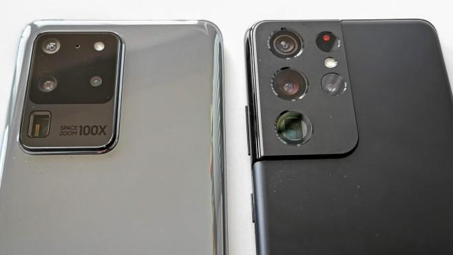 Samsungs Galaxy S20 Ultra vs. Galaxy S21 Ultra©COMPUTER BILD / Michael Huch