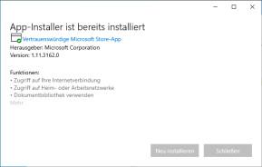 Microsoft App-Installer für Windows 10