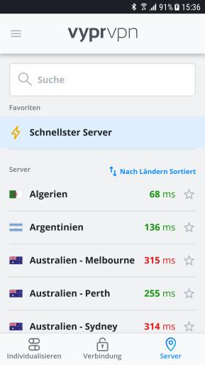 VyprVPN (Android-App)
