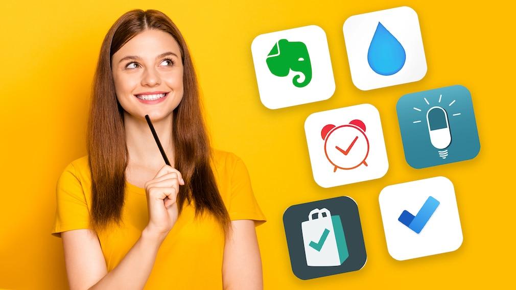 """Im Check: Mit diesen Apps für Android und iOS vergessen Sie nichts mehr Apps wie """"Microsoft To Do"""" helfen gegen Vergesslichkeit. Und sind gratis. Einfach mal anchecken!©iStock.com/Deagreez COMPUTER BILD"""