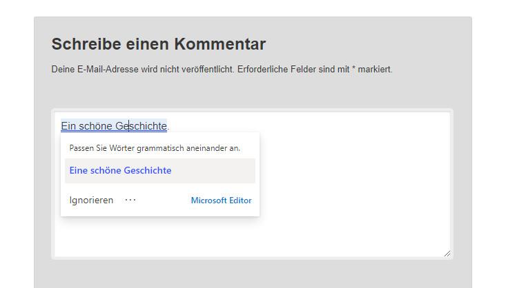 Screenshot 1 - Microsoft-Editor für Chrome