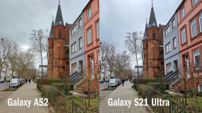 Kamera-Vergleich: Galaxy A52 vs. S21 Ultra©COMPUTER BILD