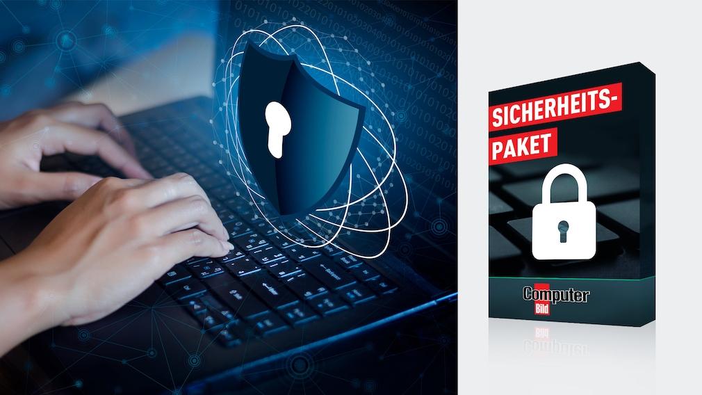Exklusives Sicherheitspaket: 12 starke Vollversionen sichern Ihren PC ab Ein guter Virenschutz ist nicht genug: Daher finden Sie hier ein Schutzpaket, das Ihren PC zum Fort Knox.©iStock.com/sarayut, COMPUTER BILD