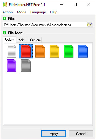 Screenshot 1 - FileMarker Free