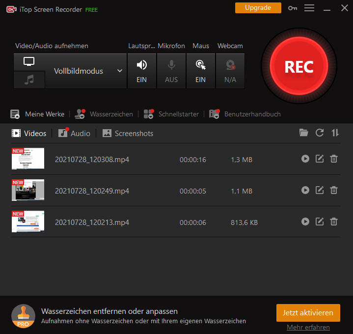 Screenshot 1 - iTop Screen Recorder