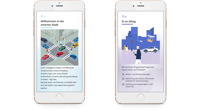 Die App Stadt-Land-DatenFluss auf einem Smartphone©Deutscher Volkshochschul-Verband