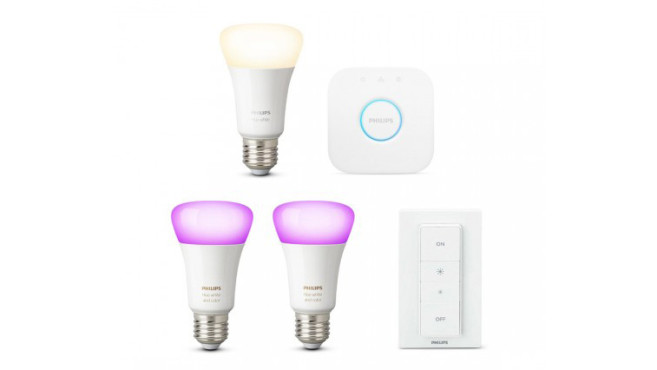 Philips Hue White & Color Ambiance E27 Bluetooth Starter Kit + gratis White E27 Bluetooth Lampe©tink