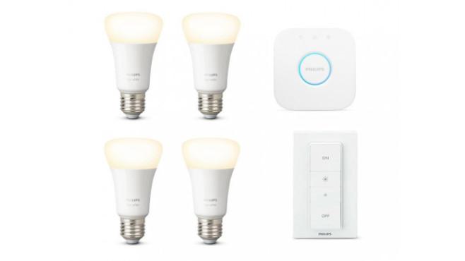 Philips Hue White E27 Bluetooth Starter Kit + gratis White E27 Bluetooth Lampe©tink