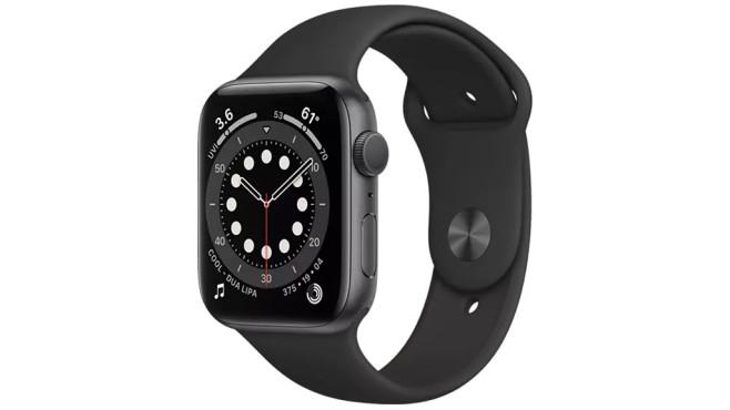 Apple Watch Series 6 in Space Grau©Saturn
