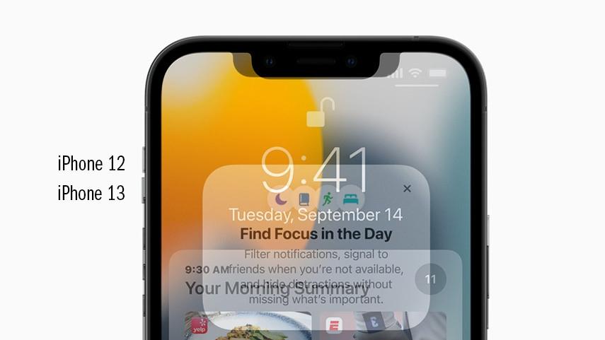 Alles zum iPhone 13: Display, Design, Kamera, Preis, Release und mehr Der Direktvergleich der offiziellen Bilder zeigt: Die Notch des iPhone 13 ist schmaler als beim iPhone 12 (Pro).