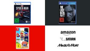 Amazon, Media Markt, Saturn: Top-Deals des Tages!©Amazon, Media Markt, Saturn, Naughty Dog, Marvel, Sony, Nintendo
