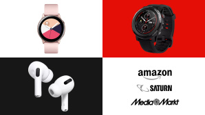 Amazon, Media Markt, Saturn: Top-Deals des Tages! © Amazon, Media Markt, Saturn, Samsung, Amazfit, Apple