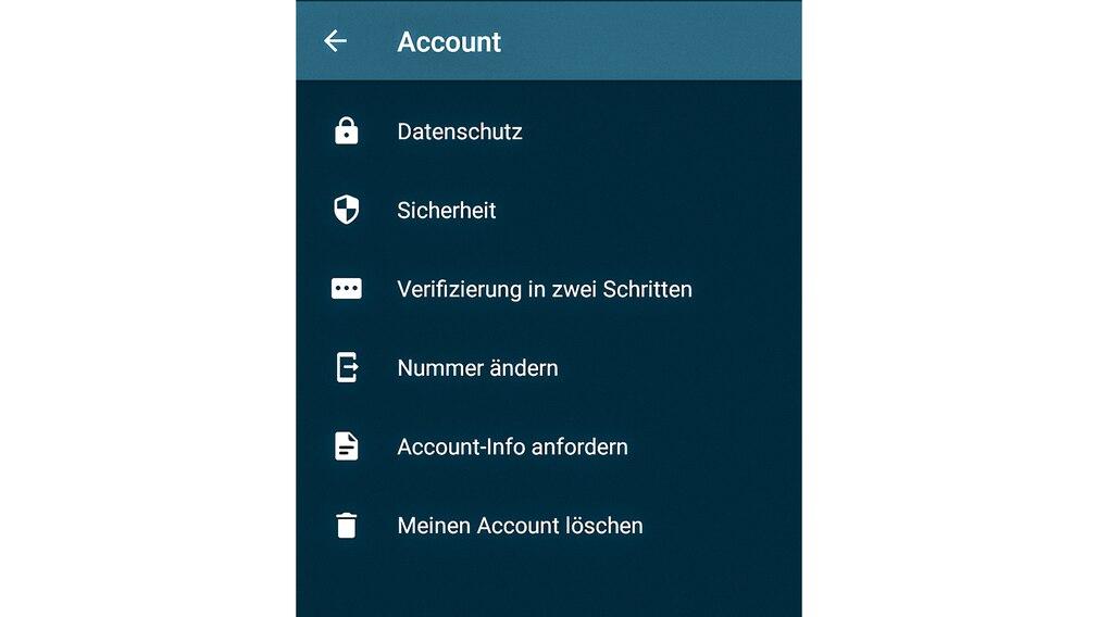 WhatsApp Account löschen