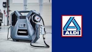 Mobiler Kompressor im Aldi-Angebot: Ferrex zum schmalen Preis©Aldi Nord, Ferrex