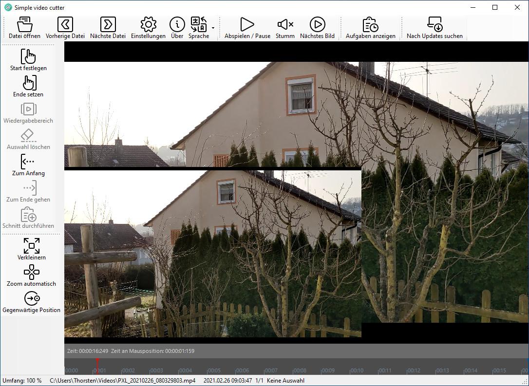 Screenshot 1 - SimpleVideoCutter