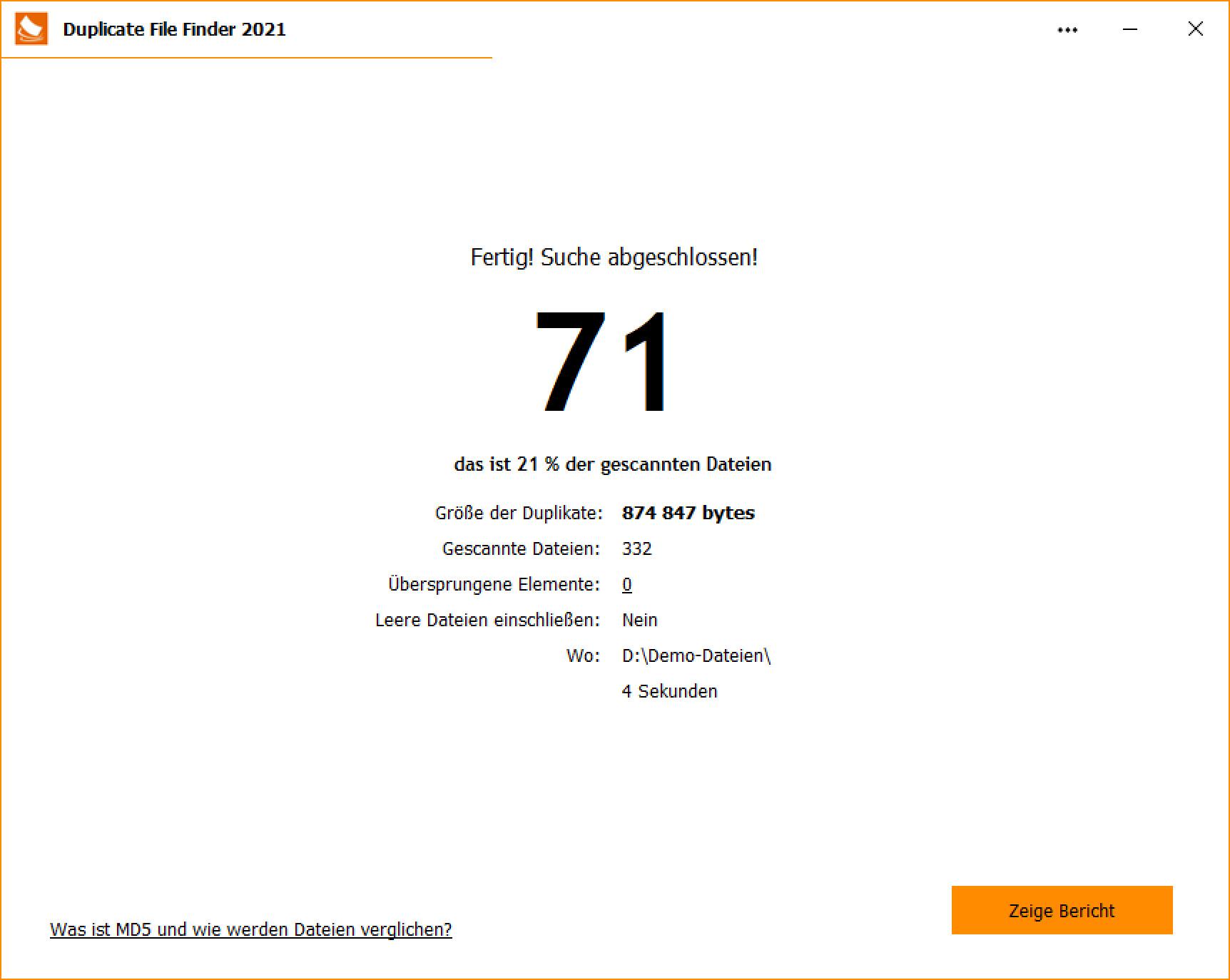 Screenshot 1 - Duplicate File Finder