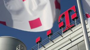 Telekom-Geb�ude und Logo©Telekom