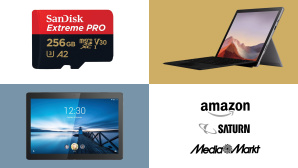 Amazon, Media Markt, Saturn: Top-Deals des Tages! © Amazon, Media Markt, Saturn, SanDisk, Microsoft, Lenovo