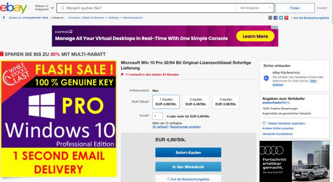 Windows 10 Billig-Keys©COMPUTER BILD