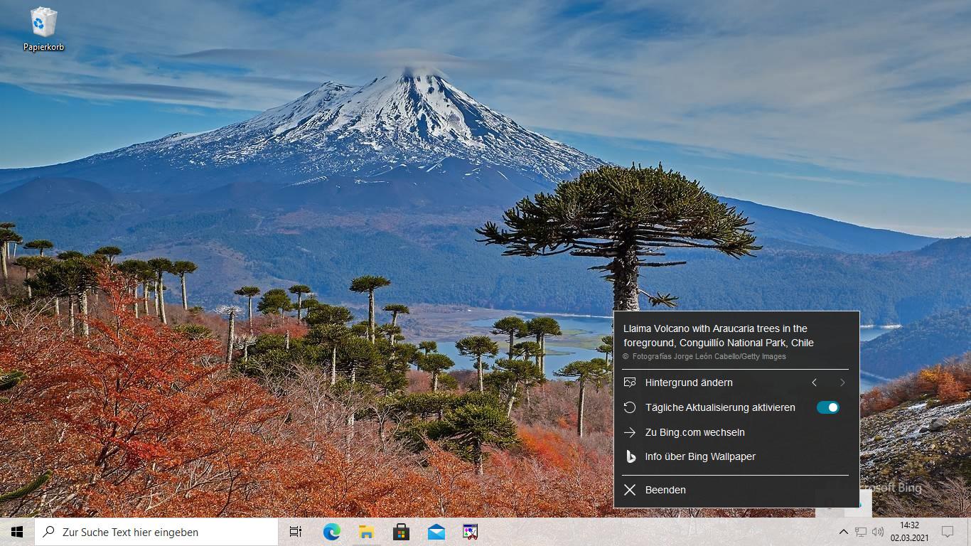 Screenshot 1 - Bing Wallpaper