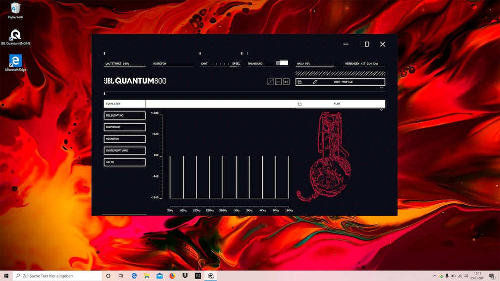 JBL Quantum 800 im Test: JBL Quantum Engine