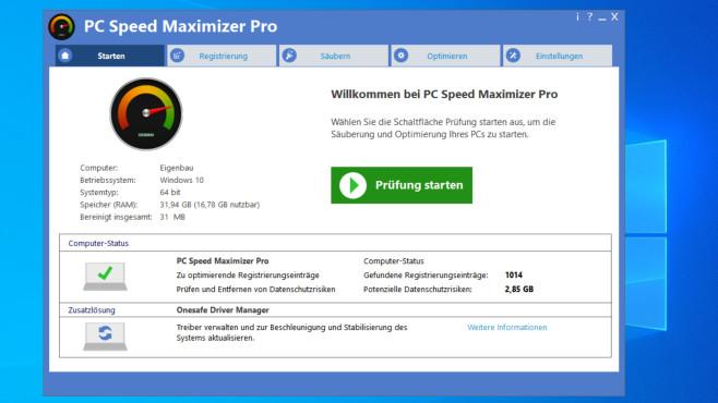 Test: PC Speed Maximizer – was taugt das Programm? Testversion unter der Lupe©COMPUTER BILD