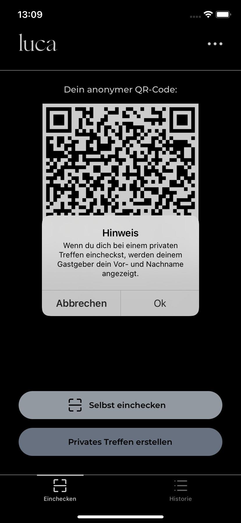 Screenshot 1 - Luca (iPhone-App)