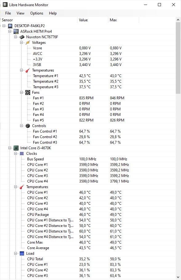 Screenshot 1 - LibreHardwareMonitor