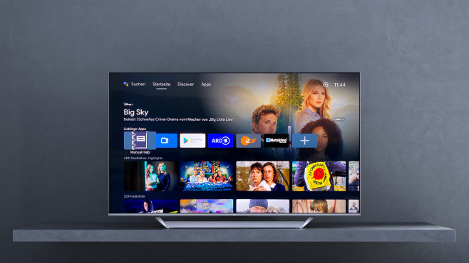 Der Xiaomi Mi TV Q1 bietet Dank Android 10 eine große App-Auswahl.©Xiaomi, COMPUTER BILD