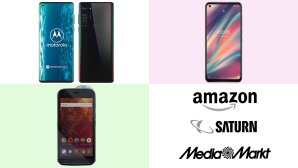 Amazon, Media Markt, Saturn: Top-Deals des Tages! © CR: Amazon, Media Markt, Saturn, Motorola, CATERPILLAR, WIKO