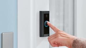 Ring Video Doorbell, wird gedr�ckt, leuchtet blau©Ring