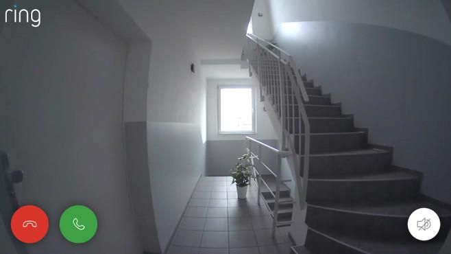 Ring-Videobild, Der Blick in den Hausflur©COMPUTERBILD