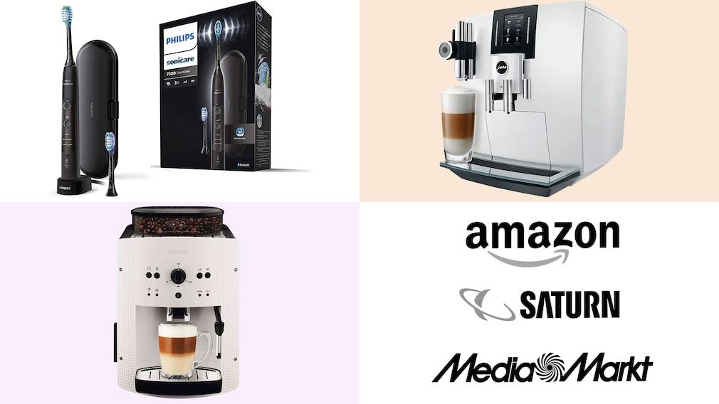 Amazon, Media Markt, Saturn: Top-Deals des Tages!©Amazon, Media Markt, Saturn, Krups, Jura, Philips