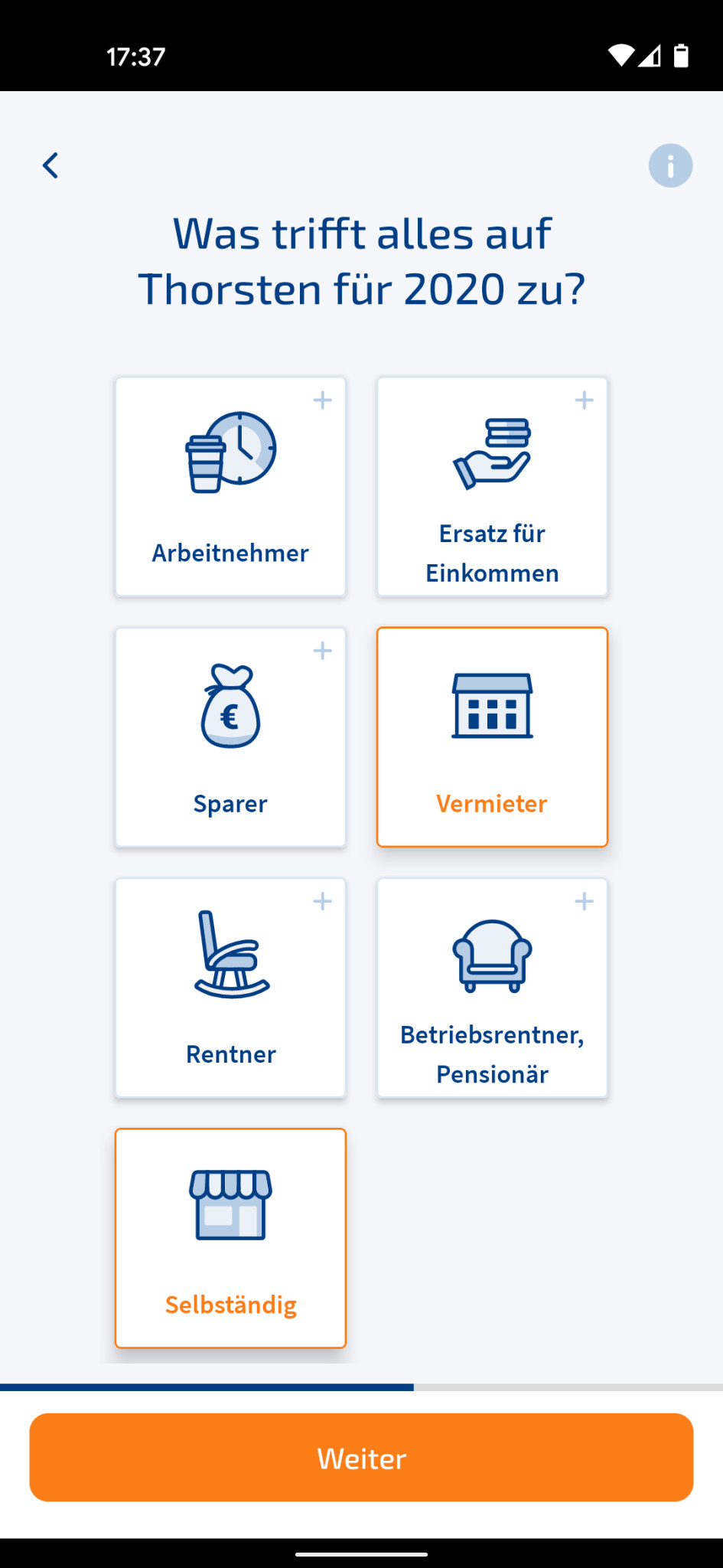 Screenshot 1 - WISO Steuer (Android-App)