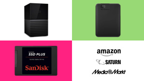 Amazon, Media Markt, Saturn: Top-Deals des Tages! © Amazon, Media Markt, Saturn, Western Digital, SanDisk