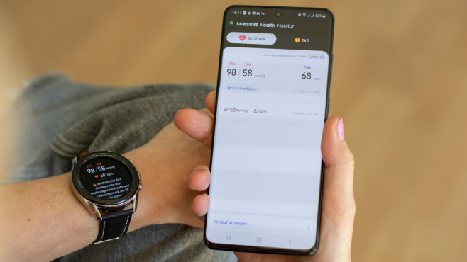 Samsung Galaxy Watch 3 Blutdruckfunktion Galaxy S20 Ultra©COMPUTER BILD