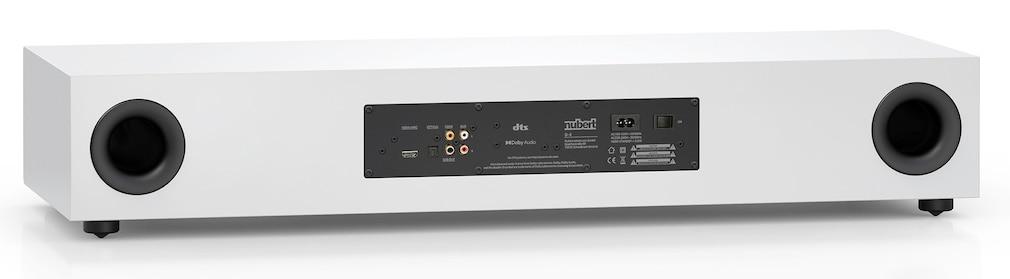 Mit HDMI, einem Stereo-Eingang sowie einem optischen und einem koaxialen Digitaleingang lässt sich der Nubert nuPro AS-3500 praktisch an jeden Fernseher anschließen.