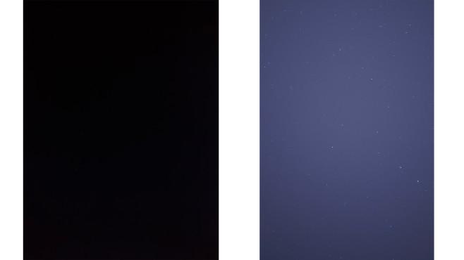 Nachtmodus gegen Sternemodus beim Realme 8 Pro©COMPUTER BILD / Janina Carlsen
