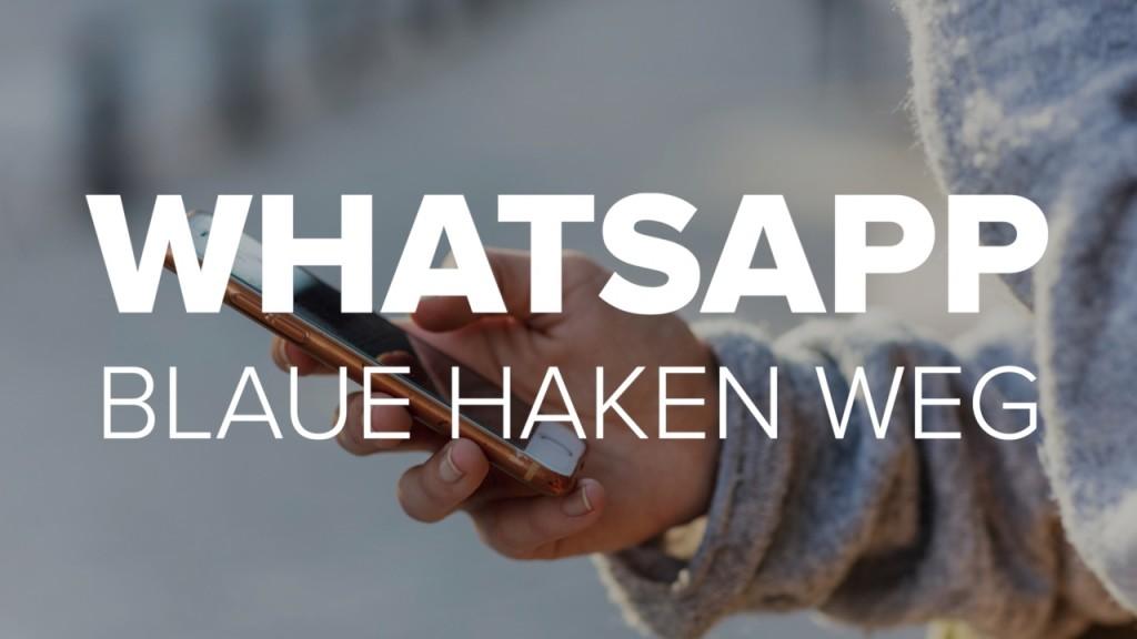 Blaue Haken Bei Whatsapp